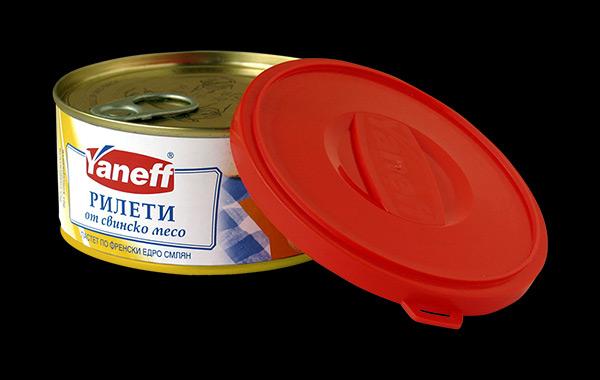 Дизайн на опаковка за пастет в серия месни консерви, 02
