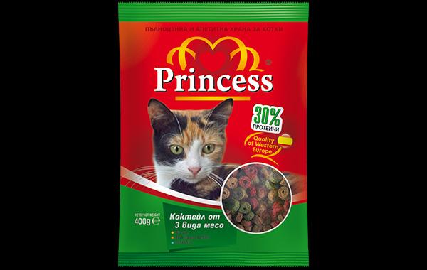 Дизайн на опаковка, храна за котки Princess, 03