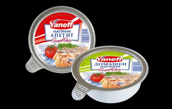 Дизайн на опаковка и етикети, пастети Yaneff, 02