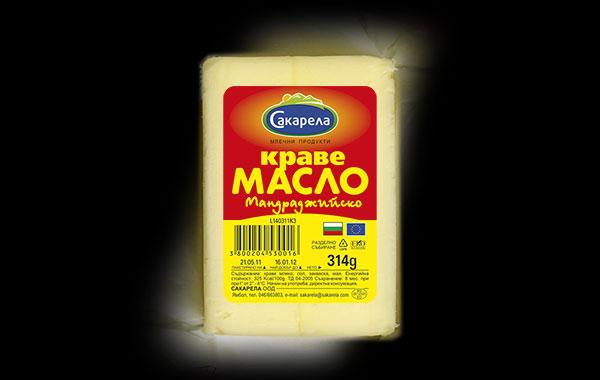 Дизайн на етикет за краве масло Сакарела, 02