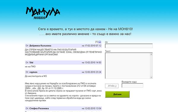 уеб дизайн - сайт mamula, 04