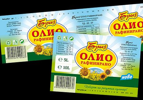 Етикети за олио