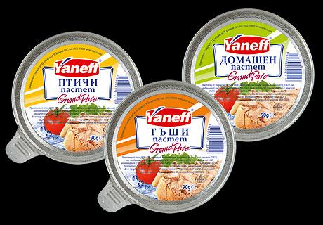 Дизайн на опаковка и етикети, пастети Yaneff,01