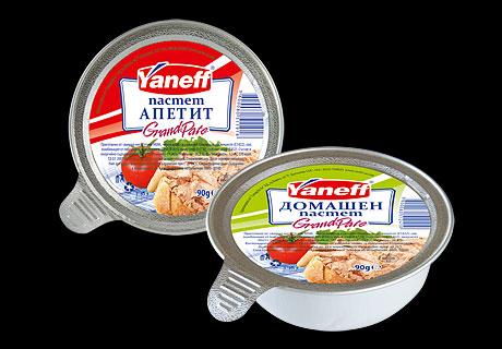 Дизайн на опаковка и етикети, пастети Yaneff,02